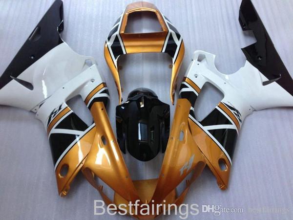 ZXMOTOR High grade обтекатель комплект для YAMAHA R1 2000 2001 белое золото черный обтекатели YZF R1 00 01 FS16