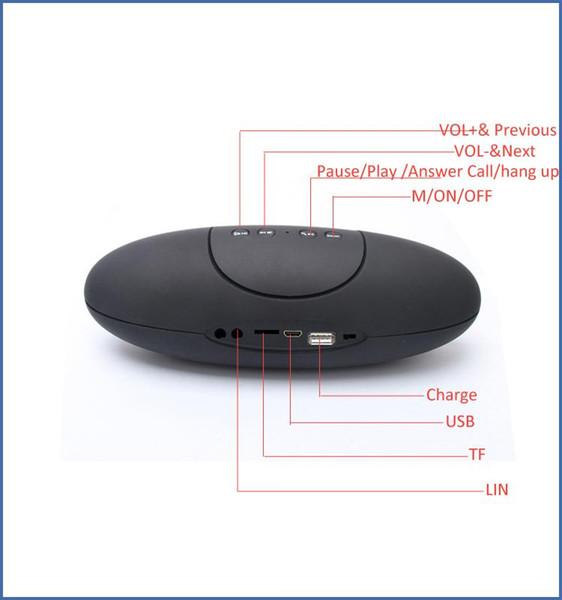 Portable Wireless Bluetooth X6U Rugby Football Stereo Speaker X6U Car Handsfree Speaker With TF/AUX/USB/FM column speaker