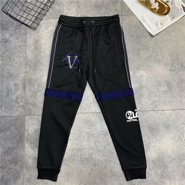 19AW New L luxuoso costura calças toalha bordados das mulheres dos homens calça casual desportivo casal moda outono inverno calças ao ar livre
