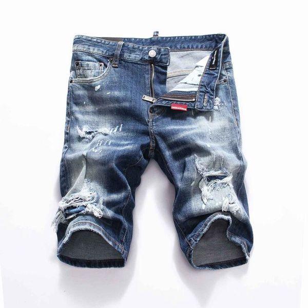 Designer 19SS Nueva famoso moda apenada para hombre jeans rotos motorista de la motocicleta pantalones vaqueros causales agujero Pantalones vaqueros Streetwear vaqueros para hombre
