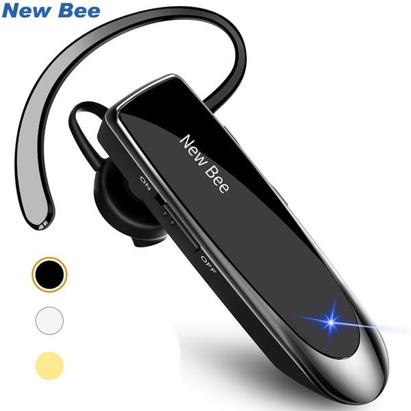 New Bee Vivavoce Bluetooth senza fili Auricolare Bluetooth Cuffie Auricolari con microfono Auricolare per PC del telefono