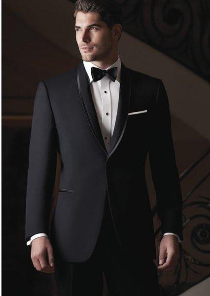 Classic Designe Charcoal Grey Men Wedding Tuxedos Best Groom Tuxedos Popular Jacket Blazer Men Business Dinner/Darty Suit(Jacket+Pants+Tie)6