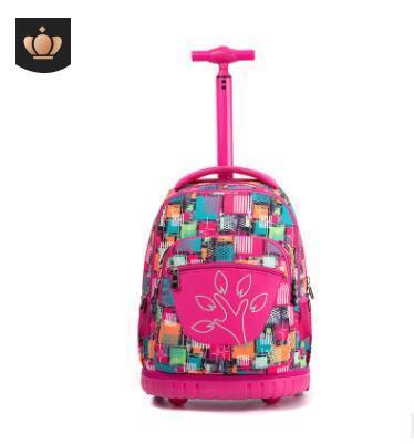 School Rolling Backpacks Kid School Bag With Wheels Children Wheeled Backpack Travel Rolling Luggage Backpack Trolley Bags