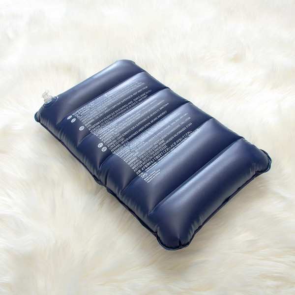 1шт воздух надувной подушки Открытого Путешествие складной двойная Сторона Flocking Подушка Travel Hotel Plane Надувная подушка