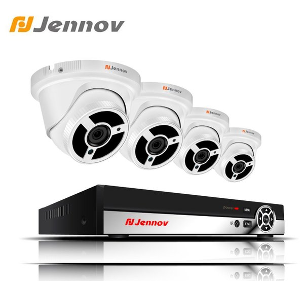Jennov HD 4CH 2MP 1080P Outdoor Security Camera Record System Home Video Surveillance Kit IP Camera POE NVR CCTV Set Wired P2P