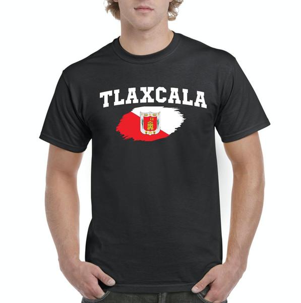 México Estado de Tlaxcala Camisas Dos Homens T-Shirt Tee de Alta Qualidade Personalizado Impresso Tops O-pescoço Moda Manga Curta