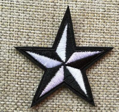 star patches Iron On Embroidered Patches Eyes Paw Black Punk Style For Clothing Hat DIY Stripes Applique Clothes Accessories Stickers Badges