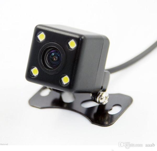 100 adet Kare Şekli DVR Oto Park Yardımı Yeni 4LED Gece Görüş Araba CCD Dikiz Kamera Araba Video Katlanabilir Monitör Camera170 Derece