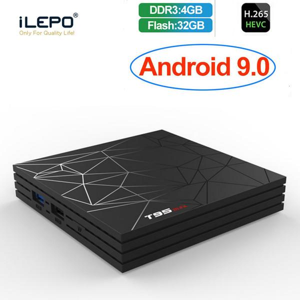T95 Max Android 9.0 TV Box Allwinner H6 Quad Core 4GB Ram 32G Rom WiFi 2.4G 6K Media Player