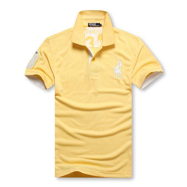 Wholesale-2019 Sommer-heißes Verkauf-Polo-Hemd USA-amerikanische Flagge Marken-Polos-Mann-Kurzschluss-Hülsen-Sport-Polo 309 # Mann-Mantel-Tropfen