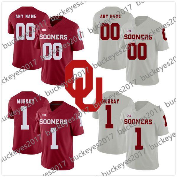Oklahoma Sooners #12 AD Miller 84 Lee Morris 18 Curtis Bolton 44 Brendan Radley-Hiles 45 Carson Meier NCAA New Red White Jerseys