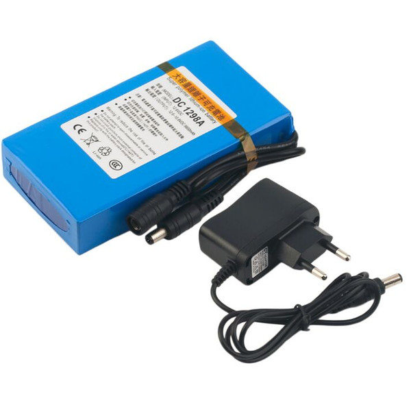 9800mAh Lithium-ion Super Rechargeable Battery +Power Charger EU Plug