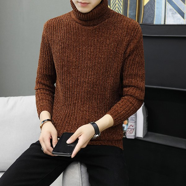 New Fashion Men/'s Black Gray Open Soft Striped Thick Warm Cardigans Sweater Coat