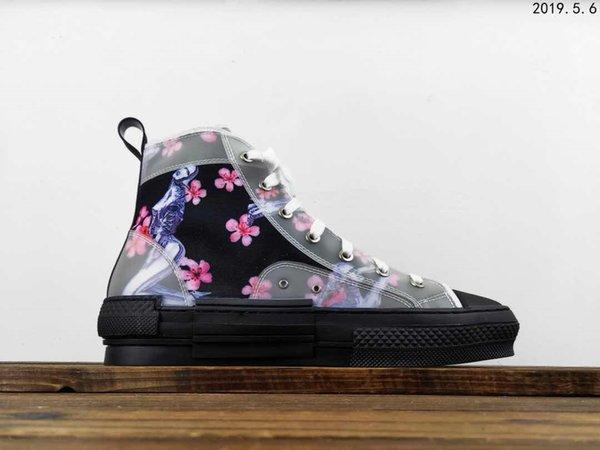 1 Designer-Spitze bedruckte High-Top-Board-Schuhe - super heißes Original für eine lässige ganze Serie! Unabhängig entwickelte Originalschuhe