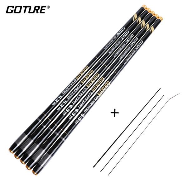 Goture Carp Feeder Fishing Rod Carbon Fiber Telescopic Rods Hand Pole 3.6-7.2m Stream Rods Tackle Vara De Pesca