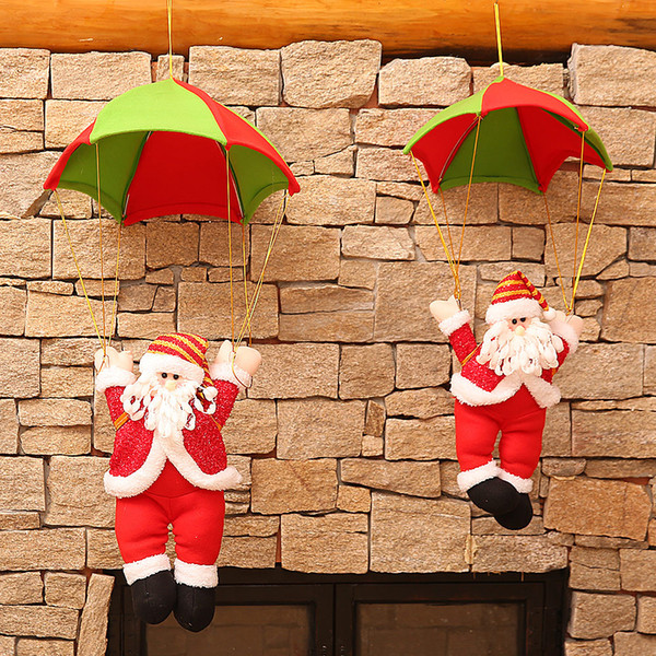 Christmas Tree Pendant Parachute Santa Claus Drop Ornaments Festival Merry Christmas Party Decoration Supplies Children's Gifts