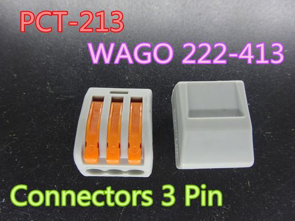 100 шт. / лот новый PCT-213 PCT213 WAGO 222-413 универсальный компактный провода разъемы проводки 3-контактный проводник на складе бесплатная доставка