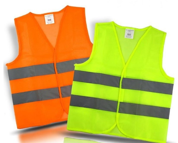 best selling Reflective Warning Vest Fluorescent Yellow High Intensity Reflection Safety Articles Traffic Safe Clothing with free shipping