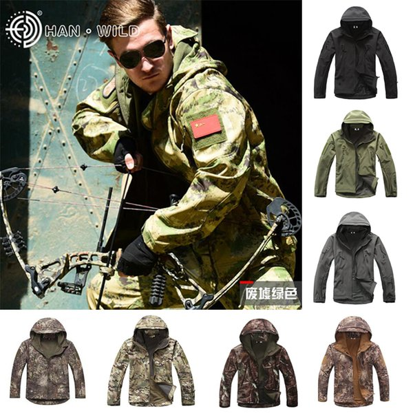 Soft Shell TAD Tactical Hunting Jacket Or Pants Hiking Camping Outdoor Waterproof Fleece Jacket Windbreaker Army Sport Suits