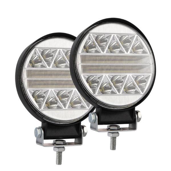Barra di lavoro da lavoro a LED lampeggiante stroboscopica da 4 pollici 102W rotonda per fendinebbia di guida fuoristrada SUV ATV per camion