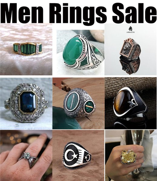 new 2019 wholesale manufacturer rings for men fashion bronze real 925 sterling silver festival party cheap cycle yellow