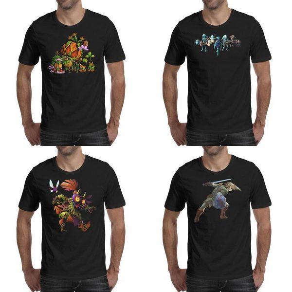 Mens printing Legend Of Zelda Featured games black t shirt Design Fashion Champion Shirts Classic the legend of zelda skyward sword logo