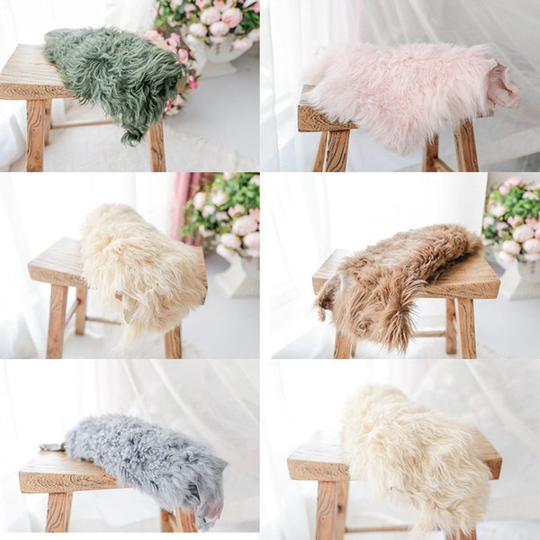Photography Wrap High Quality Pure Wool Blanket Baby Photo Background Pad Flokati Newborn Studio Shooting Props Q190521