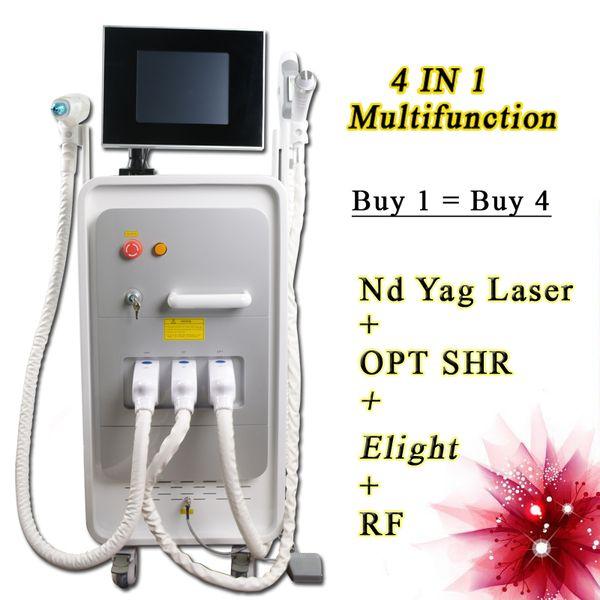 Best Dark skin hair removal elight IPL RF SHR IPL hair removal machine for women and men nd yag tattoos equipment 5000000 shots