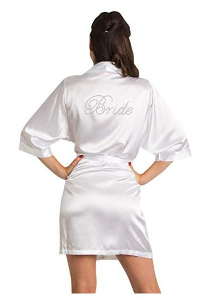 bridesmaid Robe Wedding Bride Women Sleepwear nightwear White Bridal Dress Bathrobe Night dress Sleepwear Nightgown Home Wear
