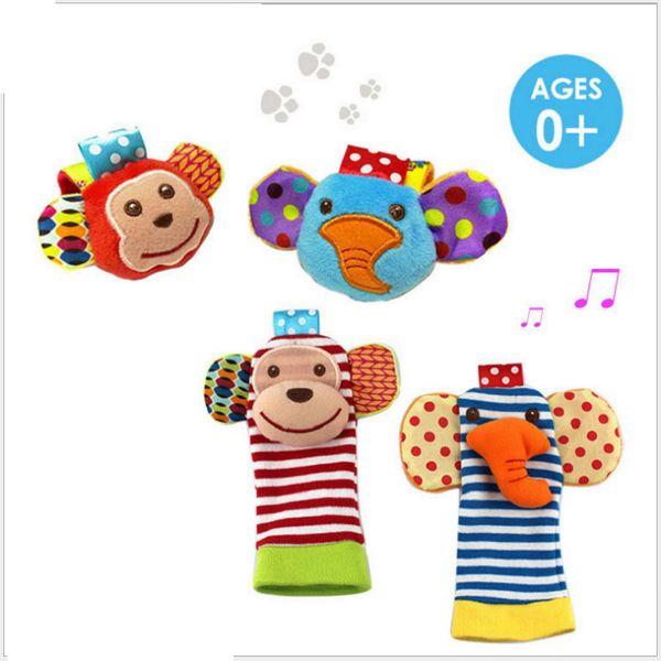 Babys oyuncak karikatür Bilek çıngırak karikatür ayak bulucu çocuk oyuncakları Bebek Çıngırak Çorap Peluş Bilek Çıngırak Ayak bebek Ço ...