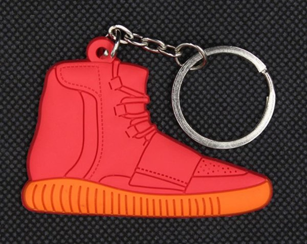 Sports star ball shoe key ring chain soft glue key ring chain football gift key chain custom