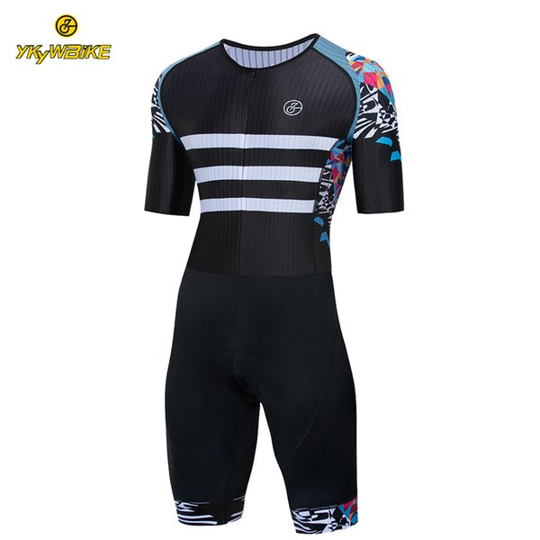 YKYWBIKE Custom Cycling Triathlon Cycling Skinsuit Hombres MTB Bike Riding Bicycle Suit Ciclismo Ropa Pro Team Maillot Ciclismo