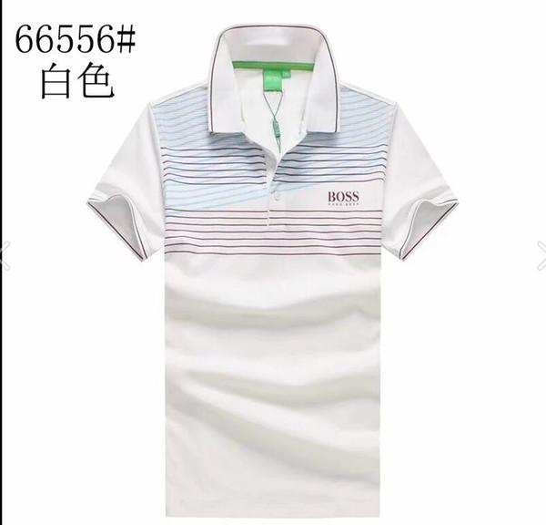 d7d733bde65e 2018 verano puro algodón moda BOSS camiseta cuello redondo color puro xia  bordado Paul camisa para