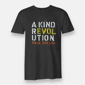 Paul Weller Rock A Kind Revolution Black T-shirt Men's Tee Size S to XXXL