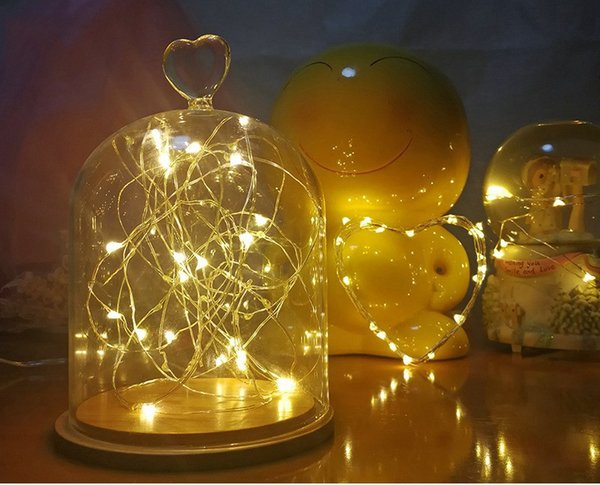 Cork-shaped cork glass red wine lamp Christmas party lamp Halloween party decorative buttons waterproof baby's breath star lamp string