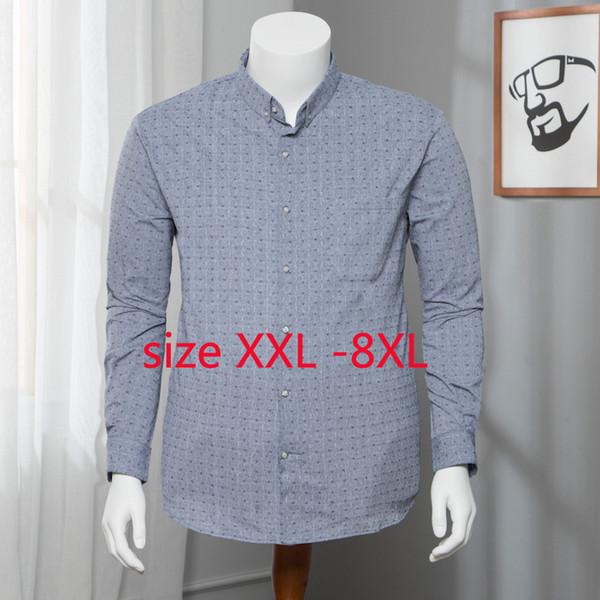 2019 Новый Arrivla мода мужчины с длинными рукавами рубашки весна осень стиль повседневная однобортный плюс размер 2xl 3xl 4xl 5xl 6xl 7xl 8xl SH190813