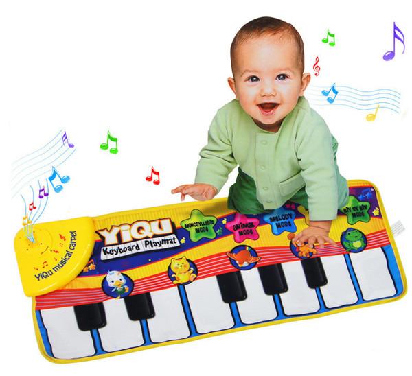 [TOP] Música para bebés Deportes Juego Juego Canto Mat 72 * 28cm de los niños del teclado de piano para los animales de juguete musical tapete de juego regalo de la alfombra de arrastre