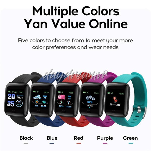 ID116 PLUS Fitness Tracker Smart Bracelet Smart Watchband Blood Pressure Wristband sports bands for iphone Android Cellphones 50pcs cheapest