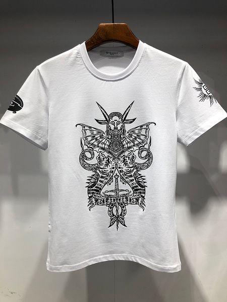 Nueva serie de moda clásica de verano de 2019, letras impresas, ropa de hombre, moda casual, camiseta de gran tamaño M-XXXL # 8024