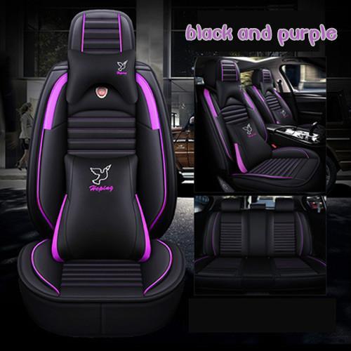 black and purple