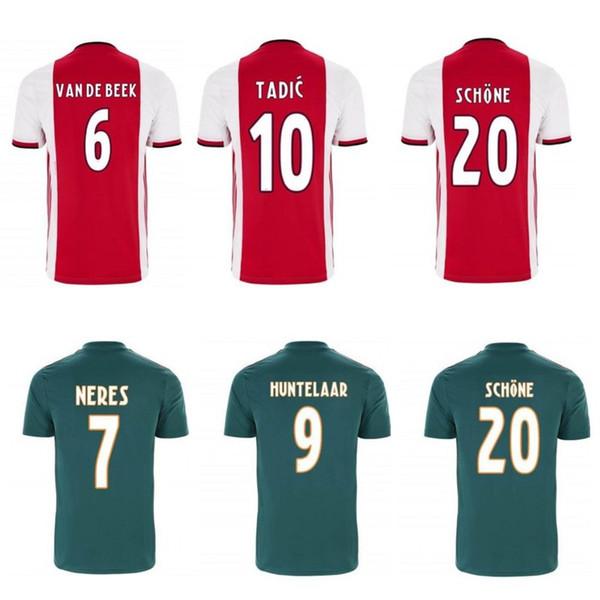 maillot ajax 2020 soccer jerseys NERES ZIYECH HUNTELAAR TADIC DOLBERG football shirts home away men soccer tops kids kit football uniforms