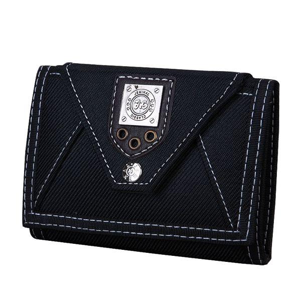 Canvas Male Purses Wallet Cards Id Holder Mens Short Wallets Hasp Zipper Money Bags Change Coin Purse Fold Pocket Notecase Bag