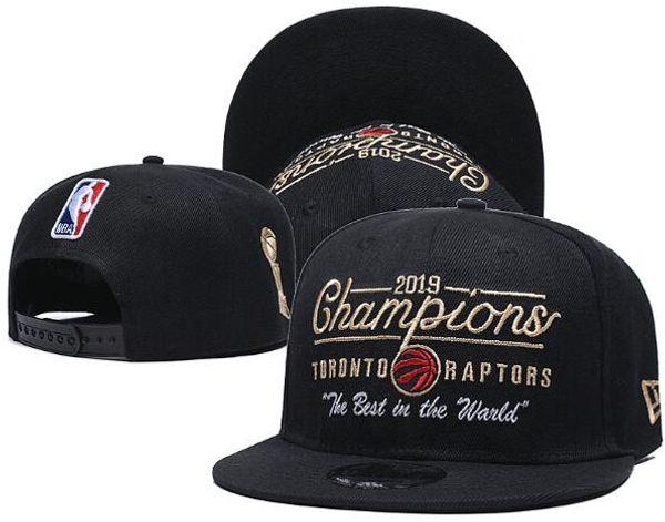 cappello di marca del ricamo Cap Marea 2019 Raptors Champions Uomo Donna Snapbacks del cappello di baseball di snapback strapback