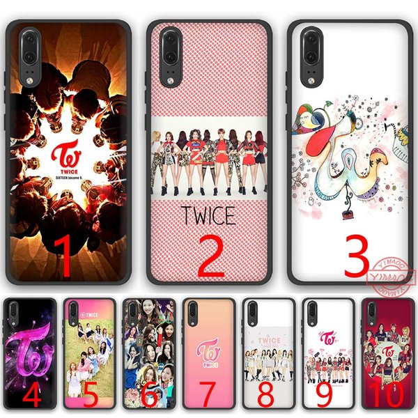 TWICE Kpop Soft Silicone Black TPU Phone Case for Huawei P8 P9 P10 P20 Lite Pro P Smart Cover
