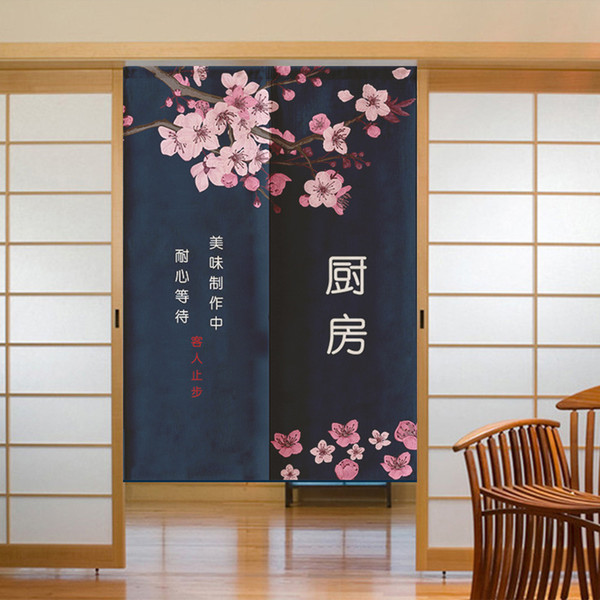 best selling Japanese Kitchen Door Curtain Restaurant Decoration Curtain Japanese Noren for Noodle Store Kitchen Room Decoration