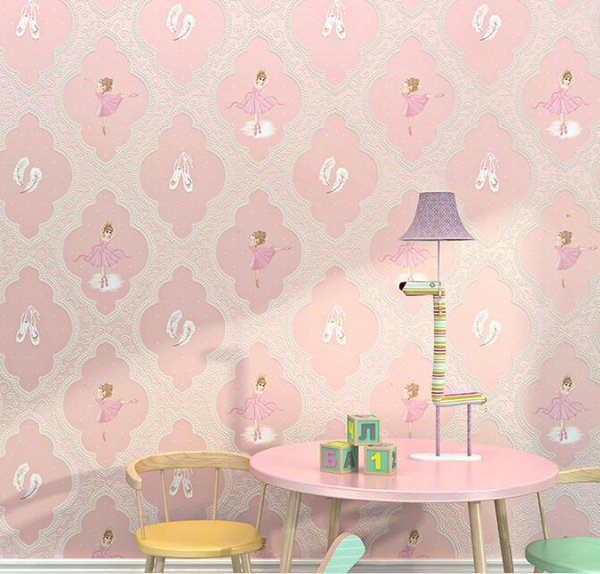 Ballet Girl Pink Wallpaper 3d For Bedroom Purple Wall Paper Roll For Living  Room Wall Paper For Kids Wallpapers Wallpaper Wallpapers Wallpapers From ...