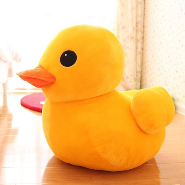Pequeno Pato Amarelo Stuffed Animal Brinquedos de Pelúcia Travesseiro Carro Decoração Padrões Presentes do Dia Dos Namorados Bonito Hot Toys Namorada Aniversário Gif