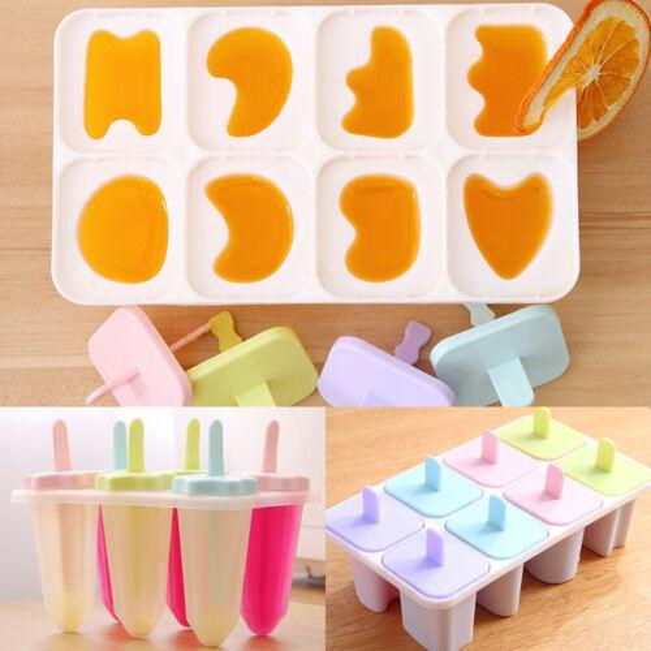 6 células 8 células sólidos silicone conveniente congelado vara Ice Cream Pop Iogurte Geléia Lolly Maker Mold