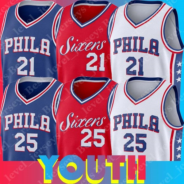 los angeles 7e85b 84a07 2019 Philadelphia Youth 76ers Jersey Joel Jersey Embiid Ben Jerseys Simmons  Tops Home Away Red Blue White From Best_level_jerseys, $27.28 | DHgate.Com