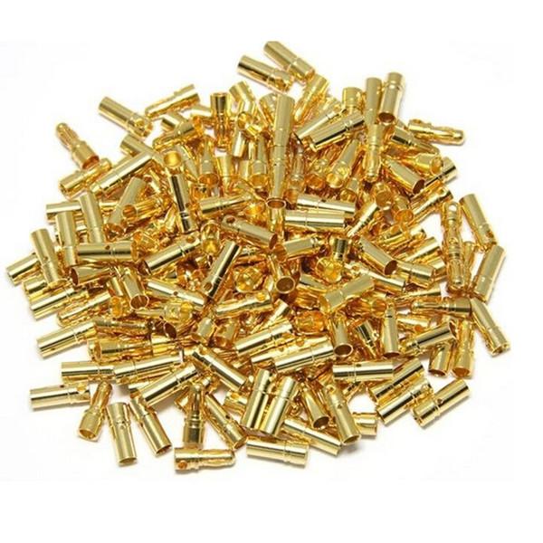 best selling Lights & Lighting High Quality 10 Pair lot Gold Copper Brushless Motor Banana Plug Bullet Connector Plated For ESC Battery 2mm